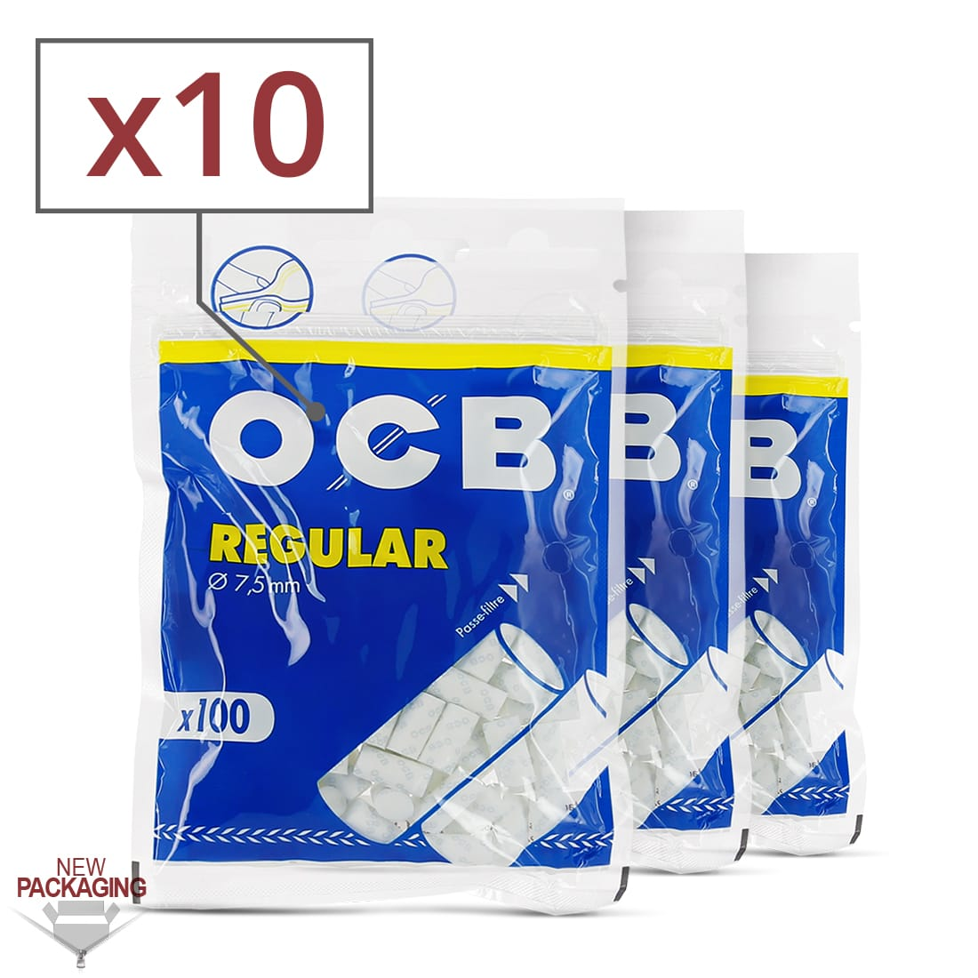 Photo de Filtres OCB Régular x10 sachets