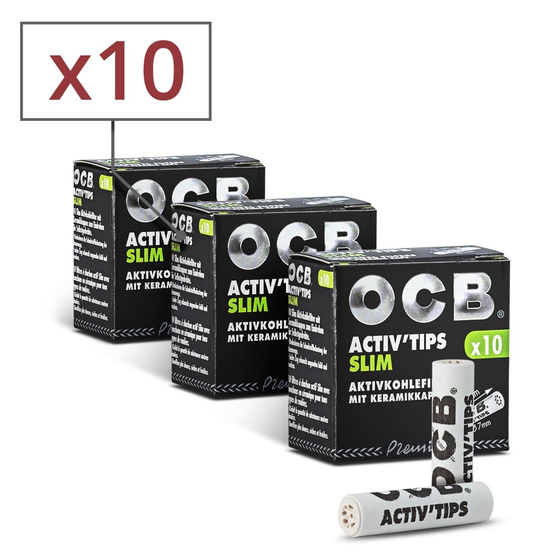 Photo de Filtres Activ' Tips Slim OCB x 10