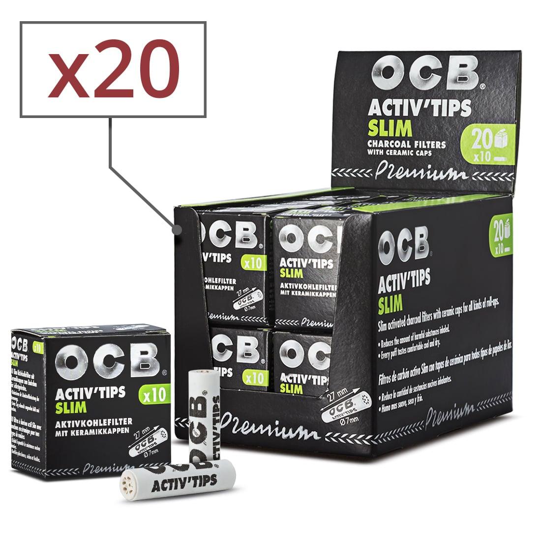 Photo de Filtres Activ' Tips Slim OCB x 20