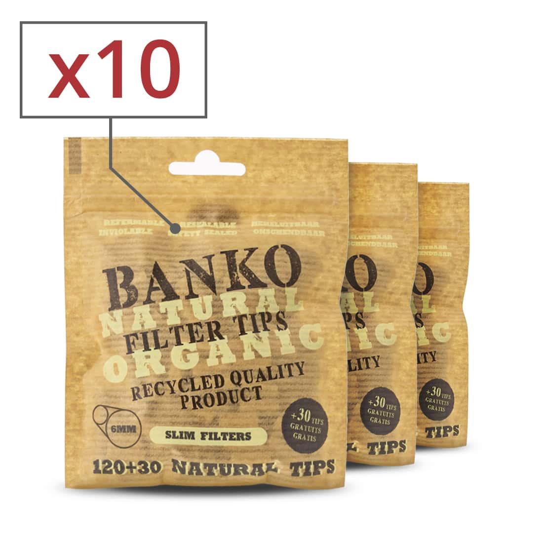 Photo de Filtres Slim Banko Non Blanchis x 10