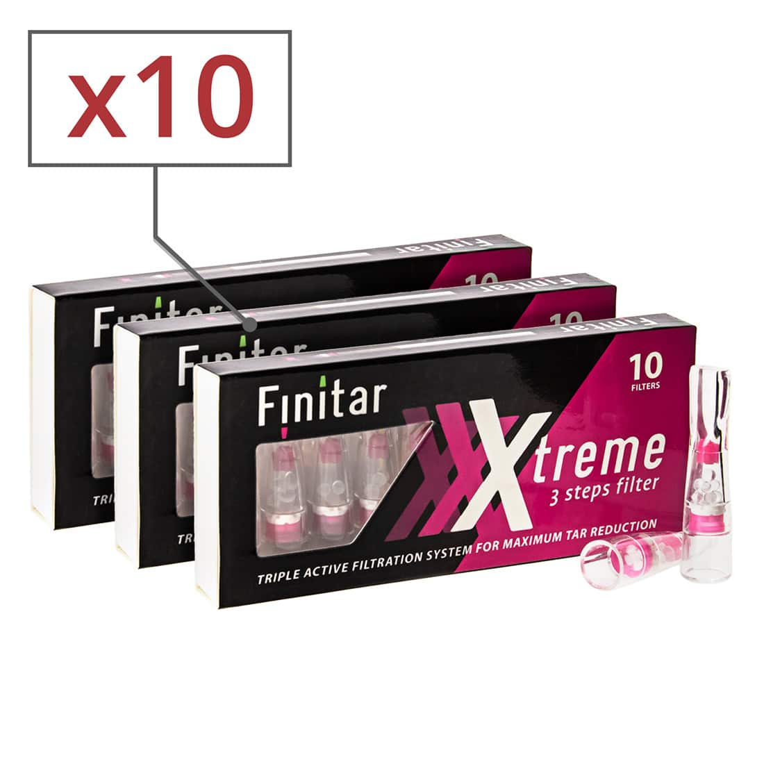 Photo de Filtre Finitar Xtreme 10 boites x 10 filtres