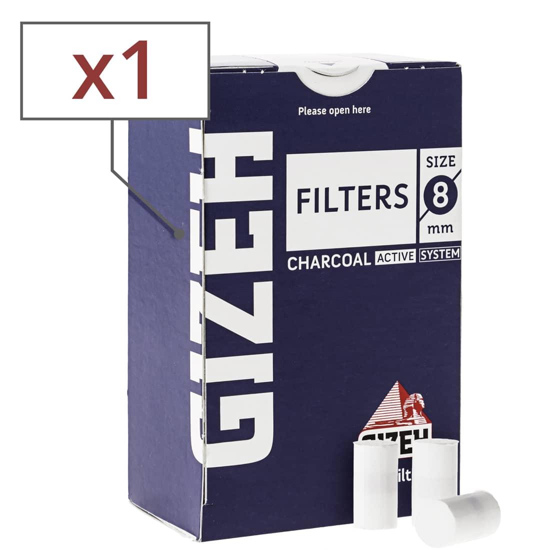 Photo de Filtres Charbon Gizeh 8 mm x 1 boite