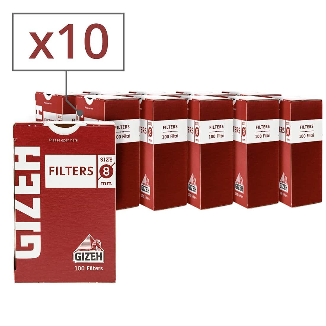 Photo de Filtres Gizeh 8 mm x 10 boites