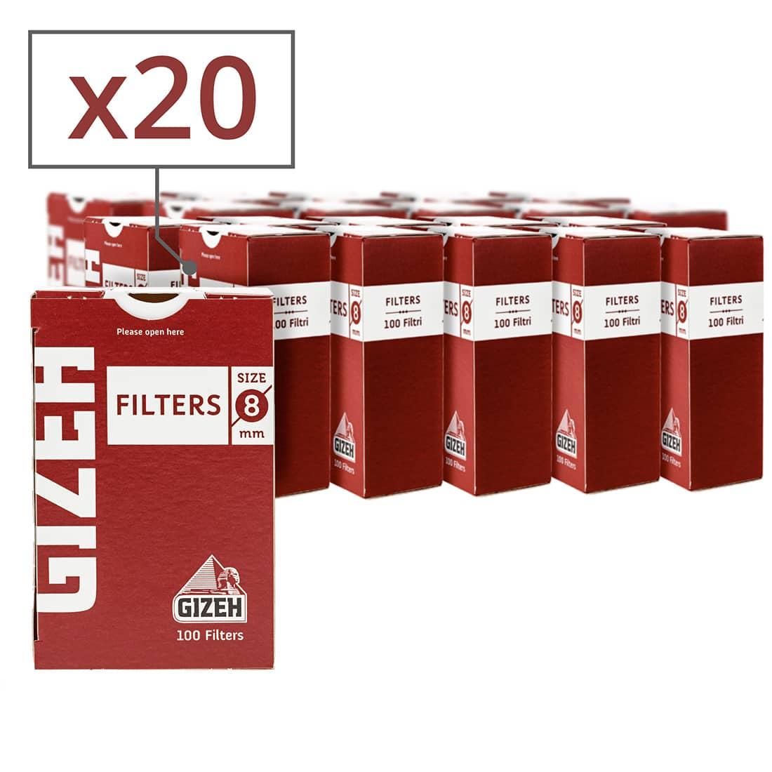 Photo de Filtres Gizeh 8 mm x 20 boites