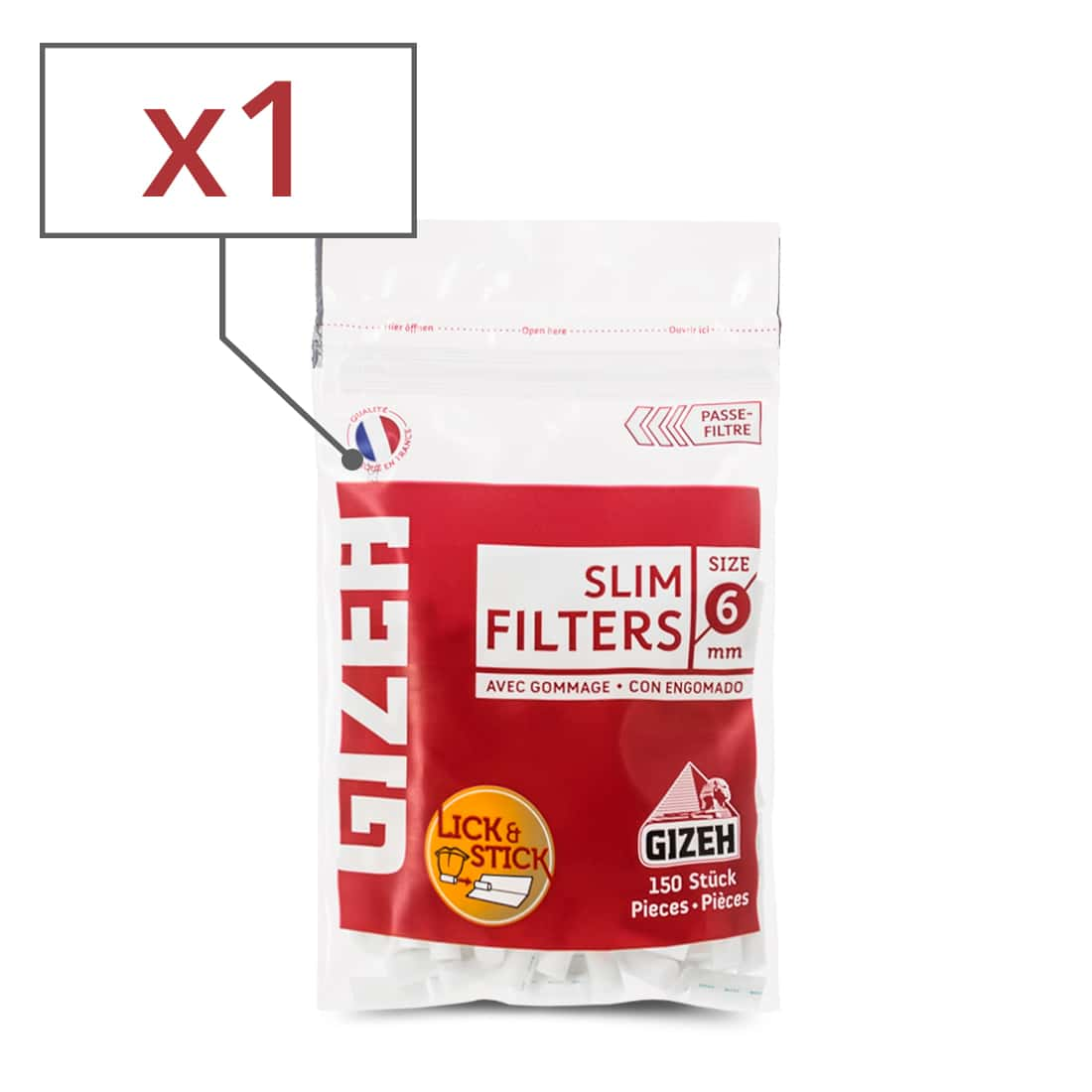 Photo de Filtres Gizeh Slim x 1 sachet