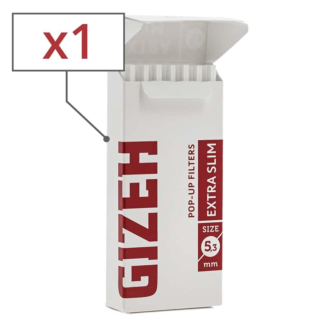 Photo de Filtres Gizeh Extra Slim 5.3 mm en sticks x 1