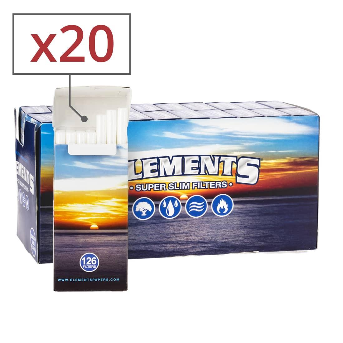 Photo de Filtres Elements Super Slim en sticks x 20