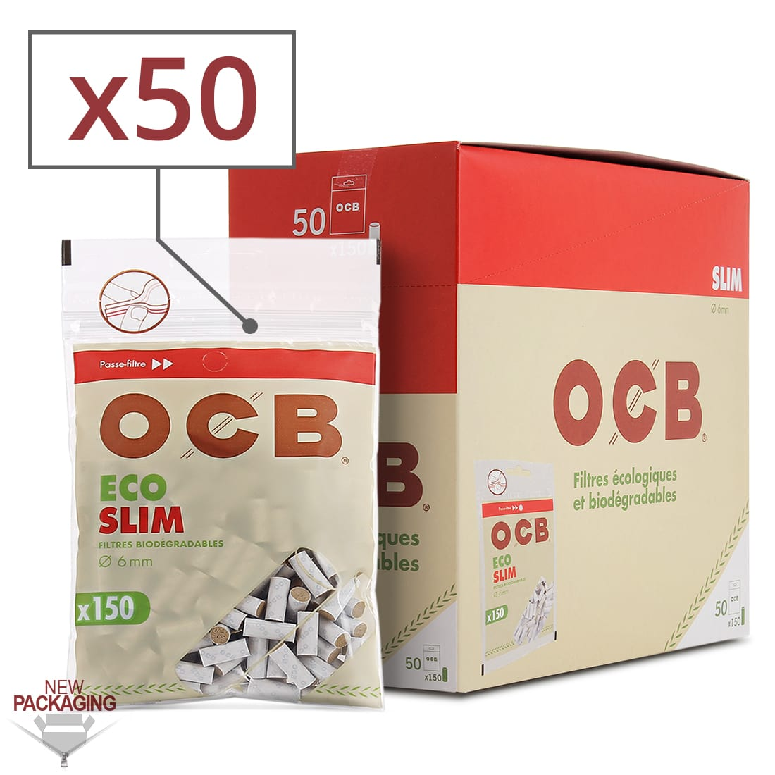 Photo de Filtres OCB Eco Bio Slim x 50 sachets