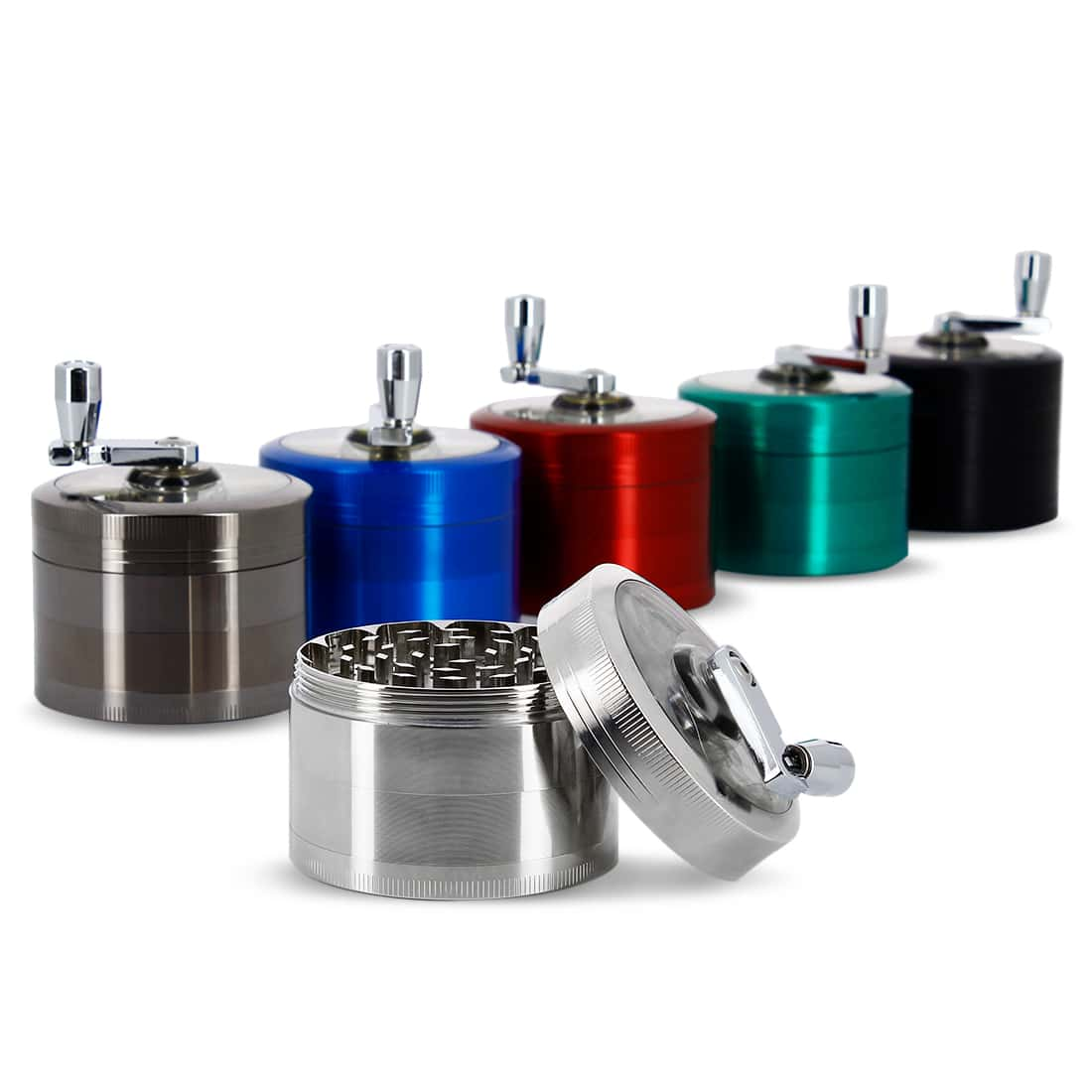 Photo de Grinder Manivelle 4 parties 60 mm