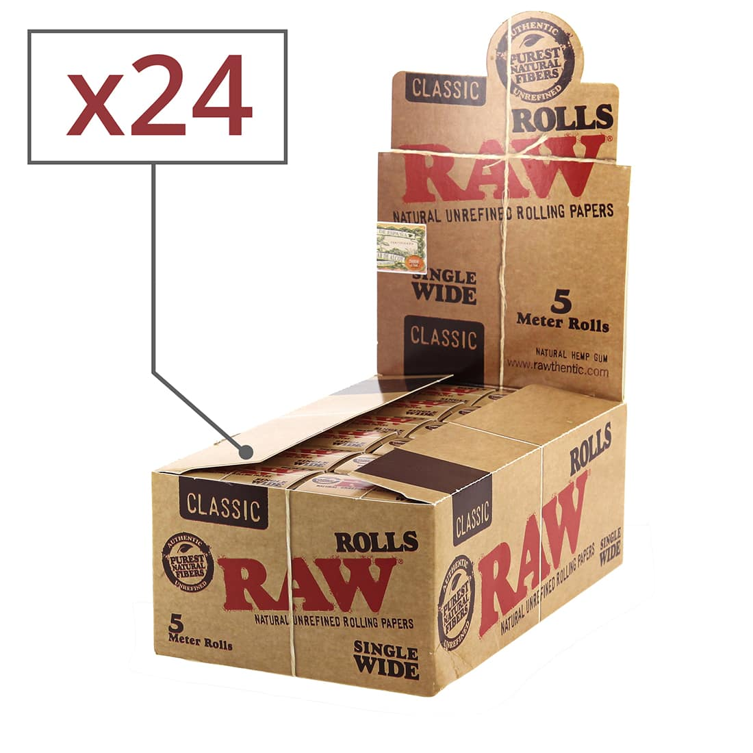 Photo de Papier a rouler Raw Rolls Regular x 24