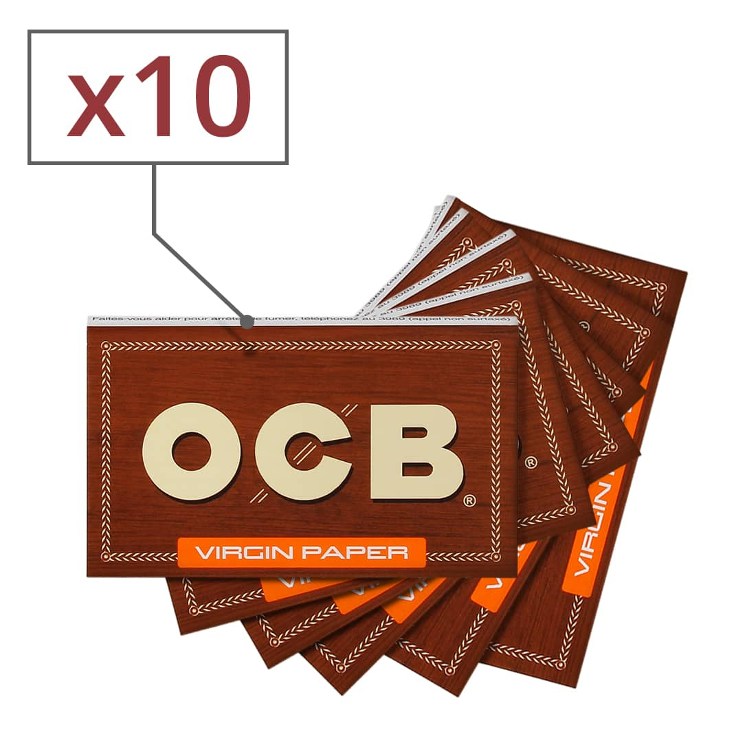 Photo de Papier à rouler OCB Virgin x 10