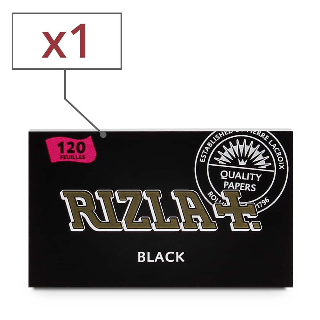 Photo de Papier à rouler Rizla Black Double x 1
