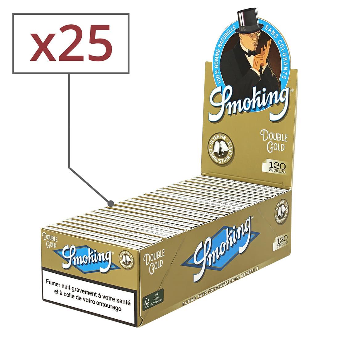 Photo de Papier à rouler Smoking Regular doré x25