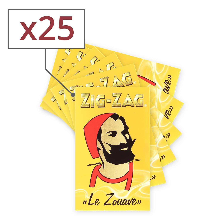 Photo de Papier à rouler Zig Zag jaune x25