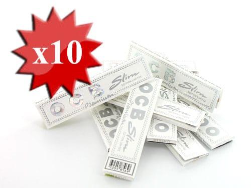 Photo de Papier à rouler OCB Slim Premium Blanc x 10