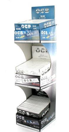 Photo de Papier à rouler OCB slim display PACK de 3