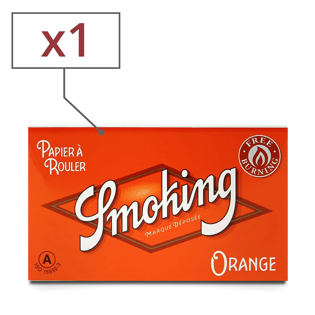 Photo de Papier à rouler Smoking Orange Regular x 1