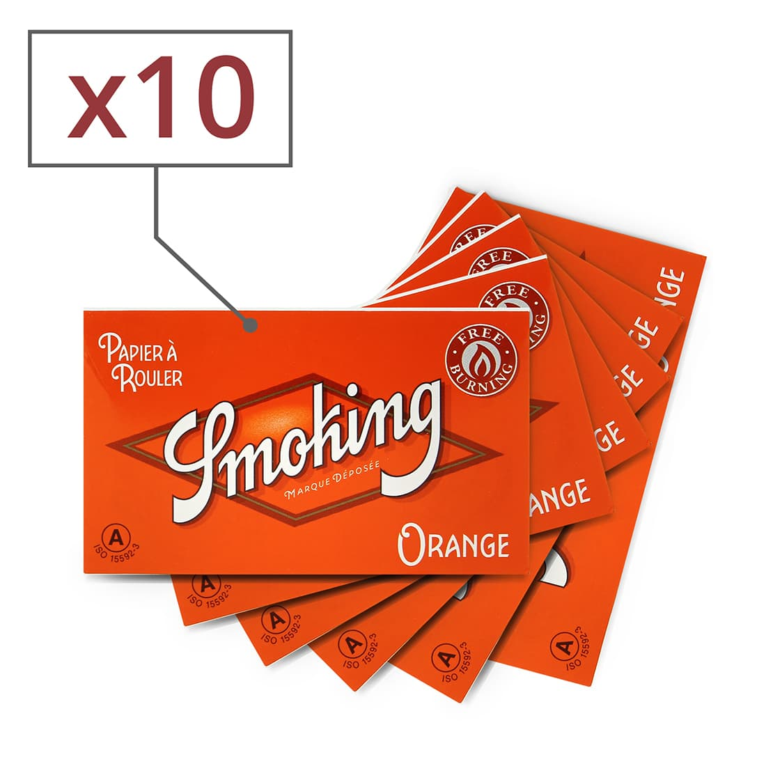 Photo de Papier à rouler Smoking Orange Regular x 10