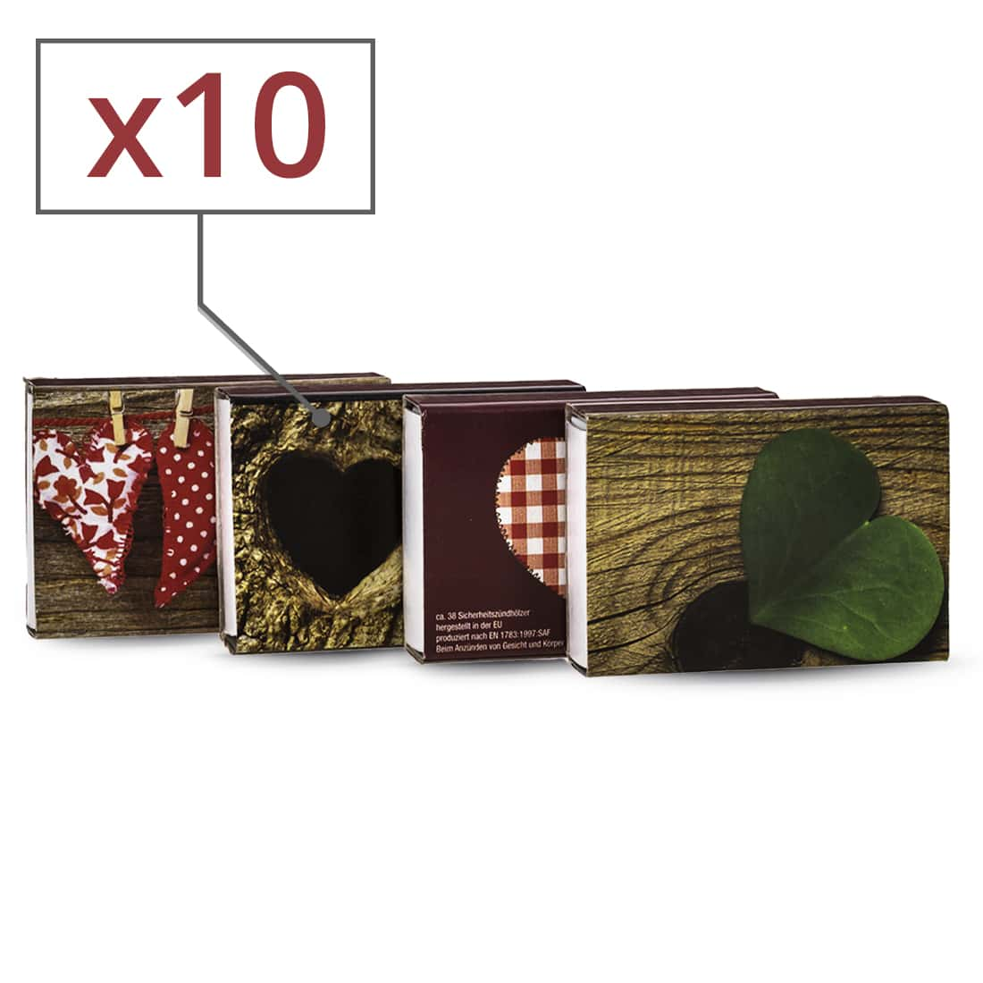 Photo de Allumettes Motif Vintage x 10 boites