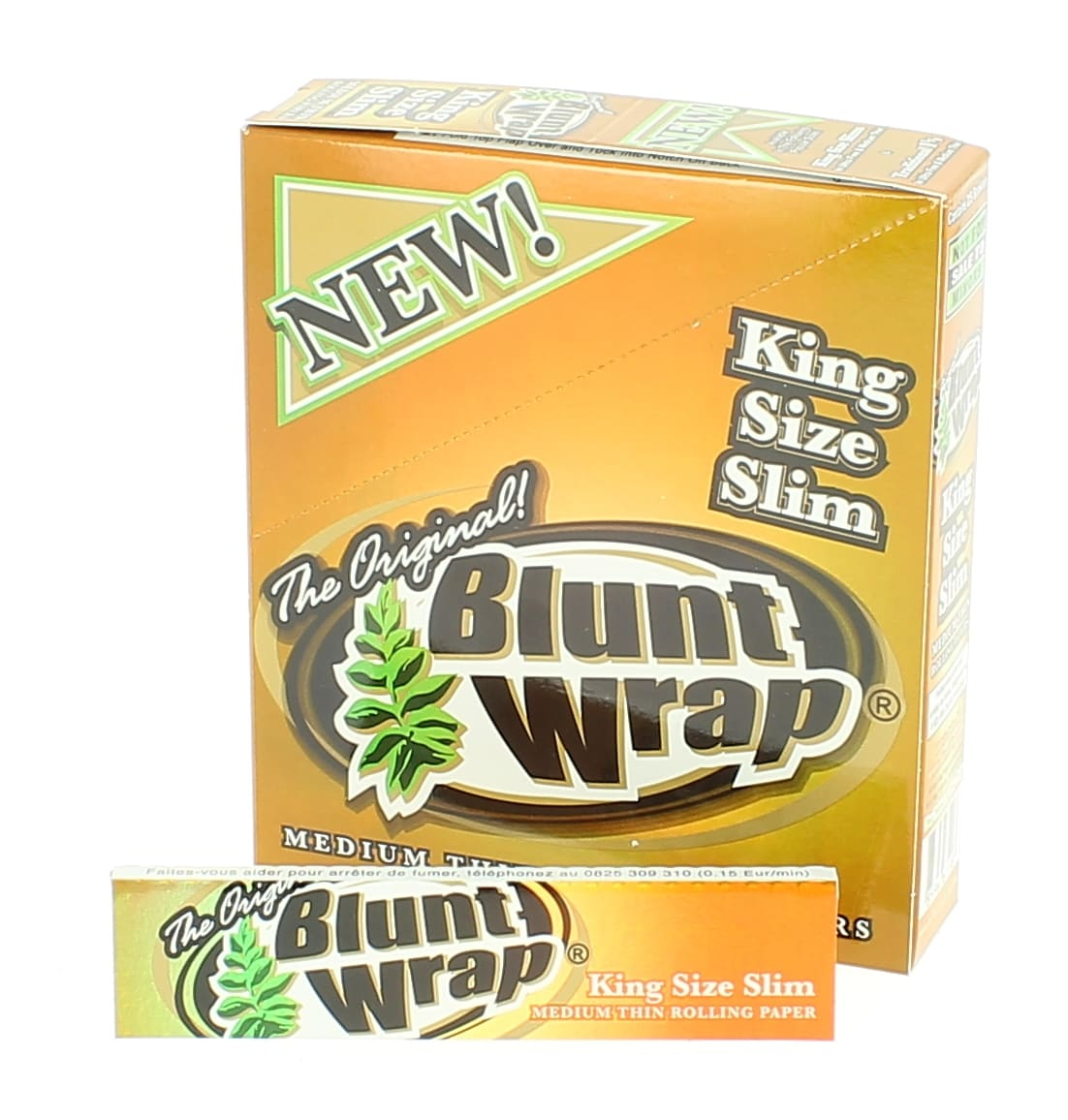 Photo de Papier à rouler Blunt Wrap Gold Slim x25