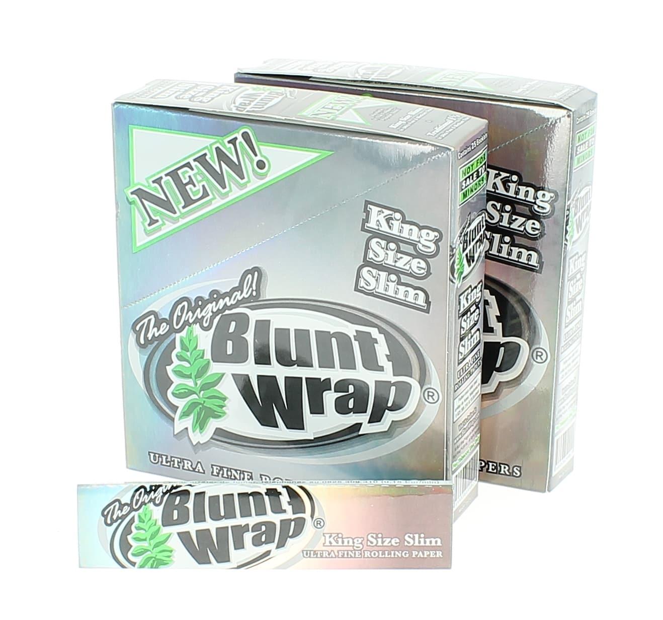 Photo de Papier à rouler Blunt Wrap Silver Slim x25 PACK de 2