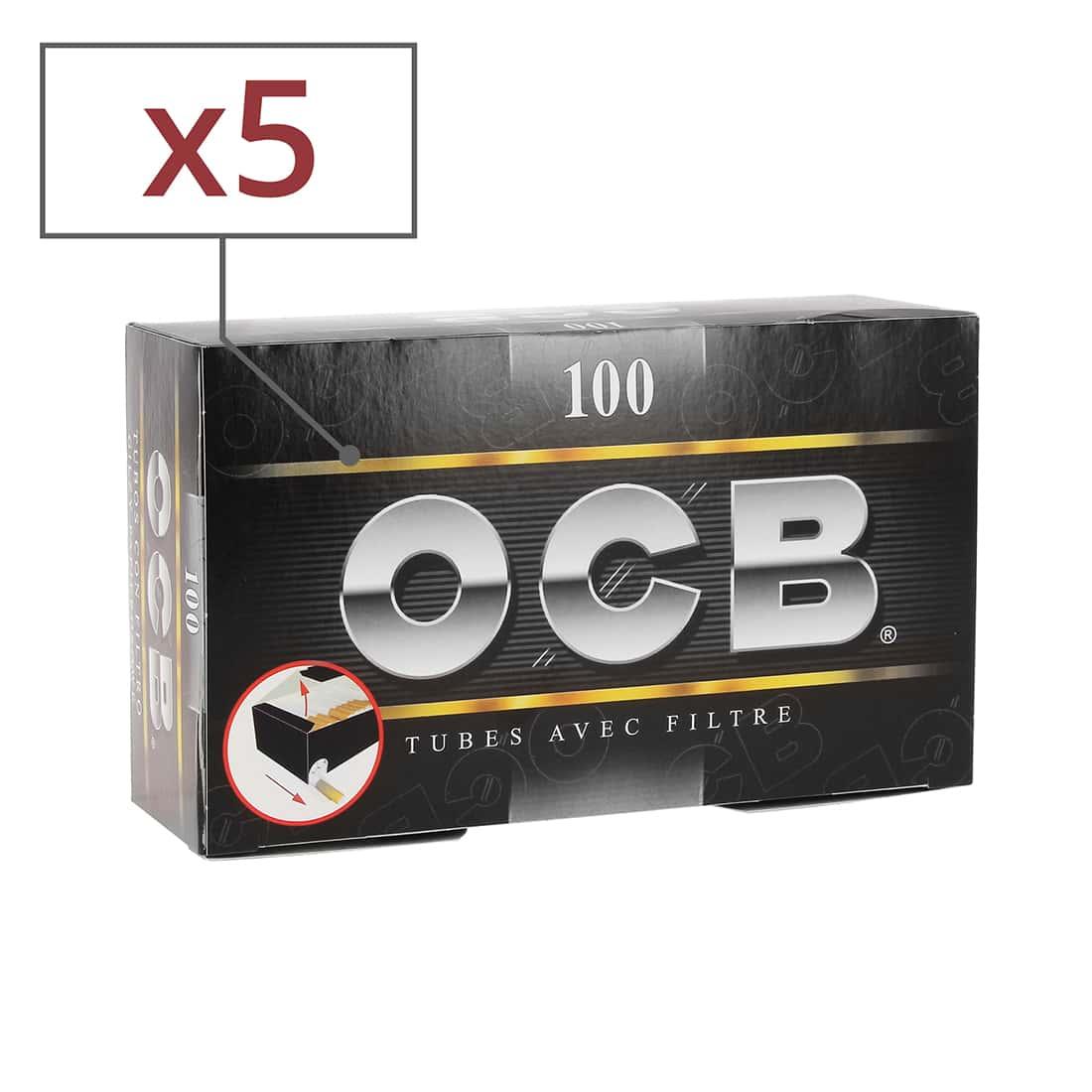 Photo de Boite de 100 tubes OCB avec filtre x5