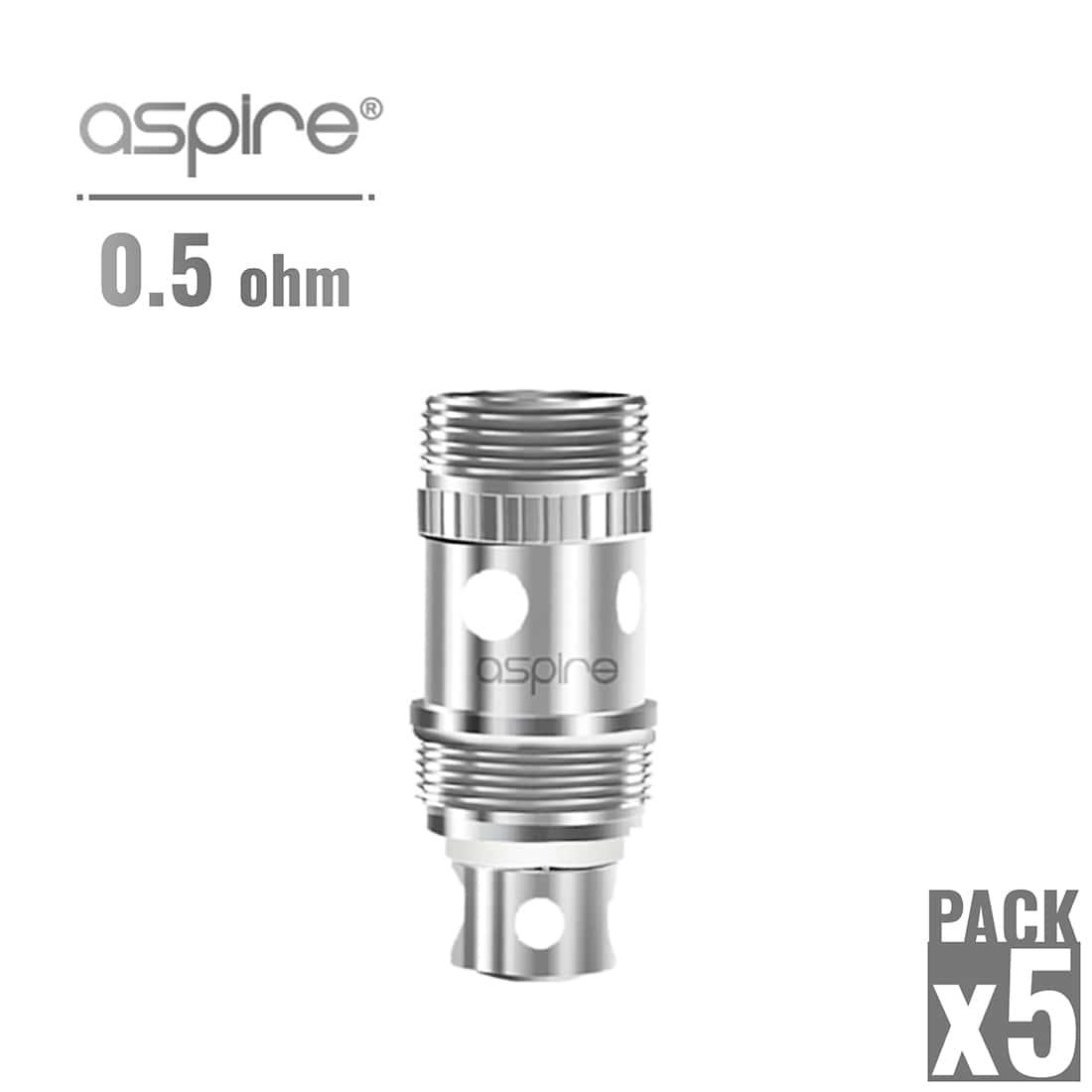 Photo de Atomiseur Aspire Atlantis 0.5 Ω x 5