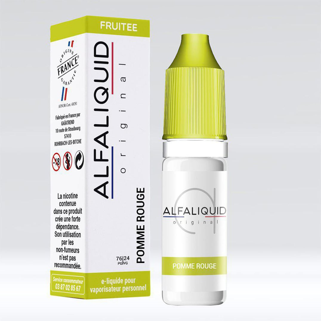 Photo de Eliquide Alfaliquid Pomme Rouge
