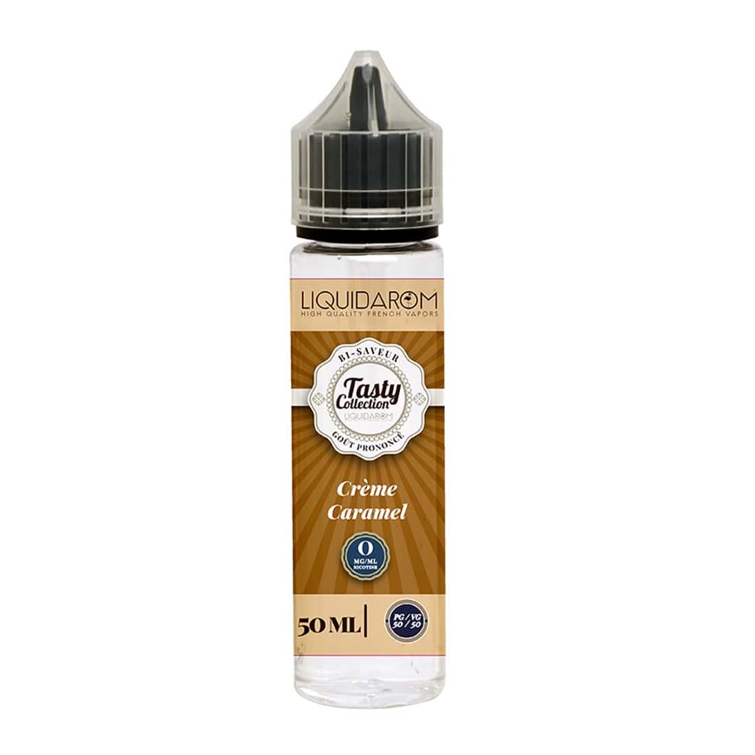Photo de E liquide Tasty Collection Crème Caramel 0 mg 50 ml