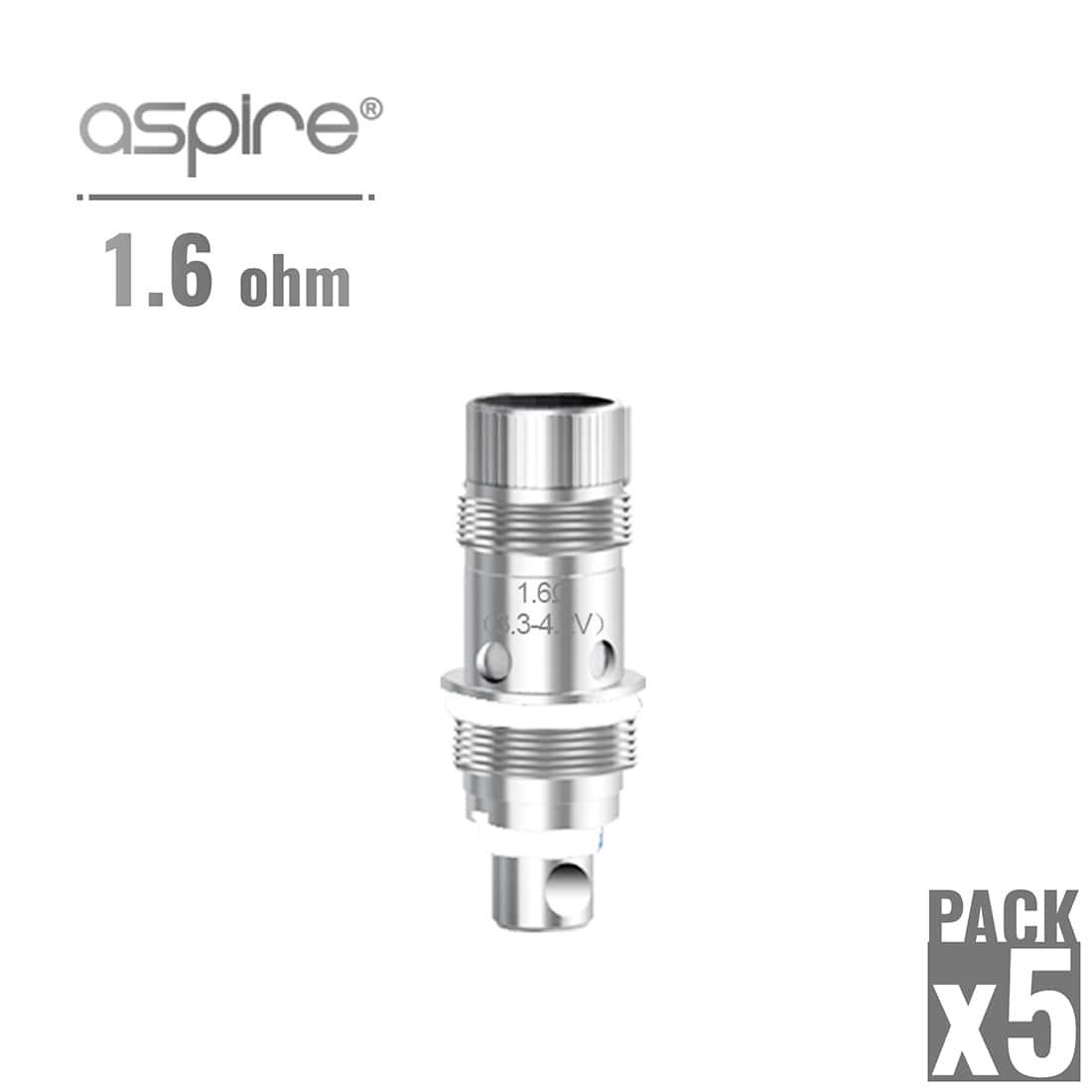 Photo de Atomiseur Aspire Nautilus 1.6 Ohm x 5