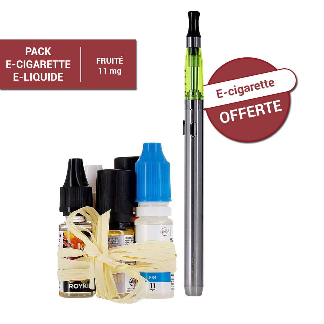 Photo de Pack e-cigarette e-liquide 11 mg Fruité