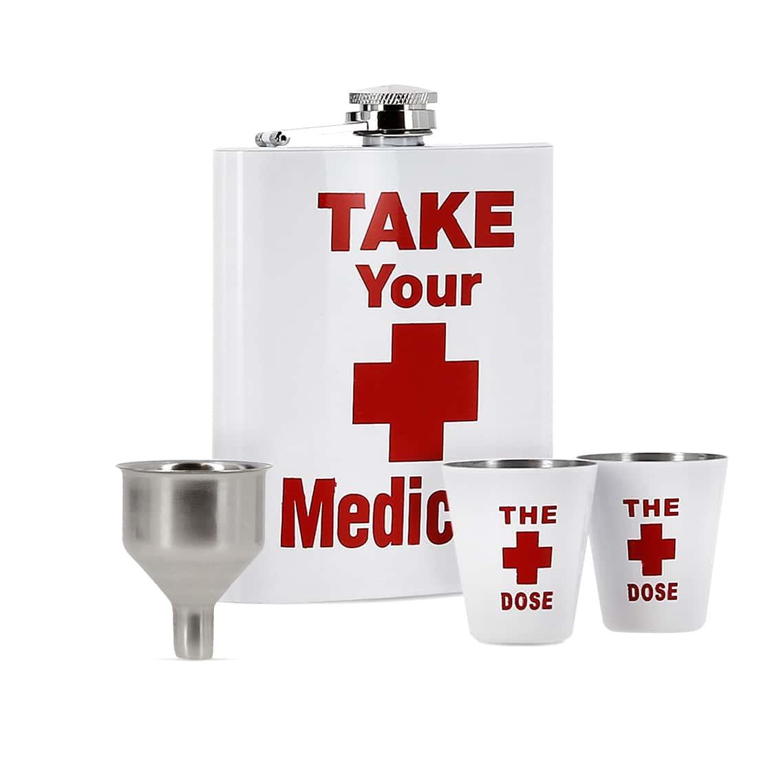 Photo de Coffret Flasque Alcool Take Your Medicine
