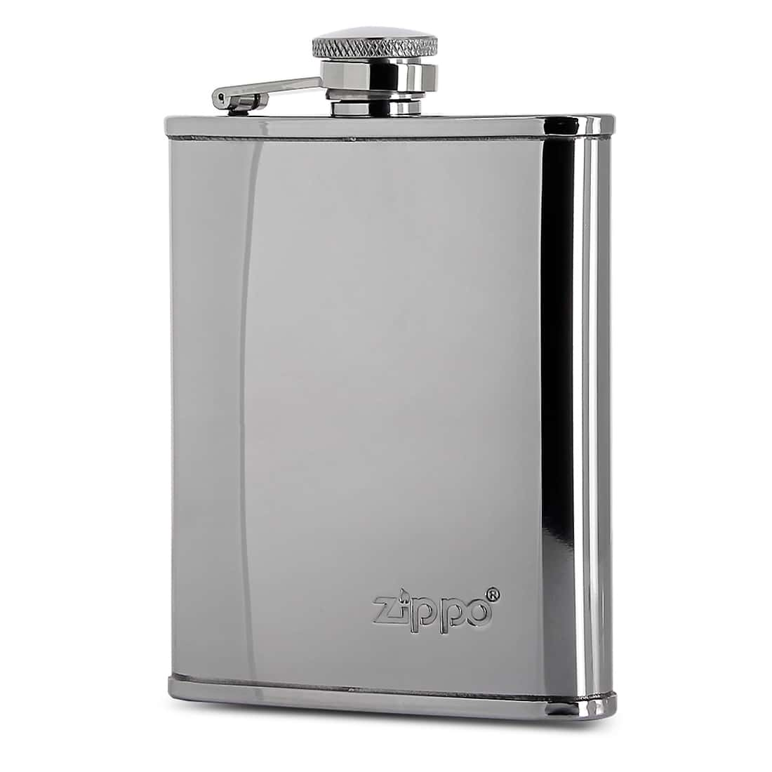 Photo de Flasque Alcool Zippo Chromée