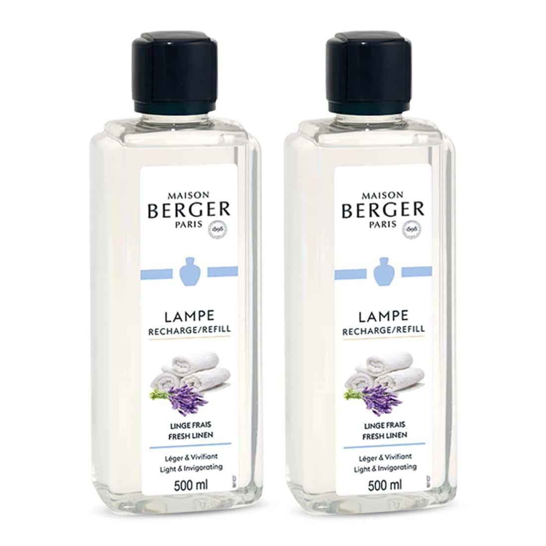 Photo de Parfum maison Lampe Berger Linge Frais x 2
