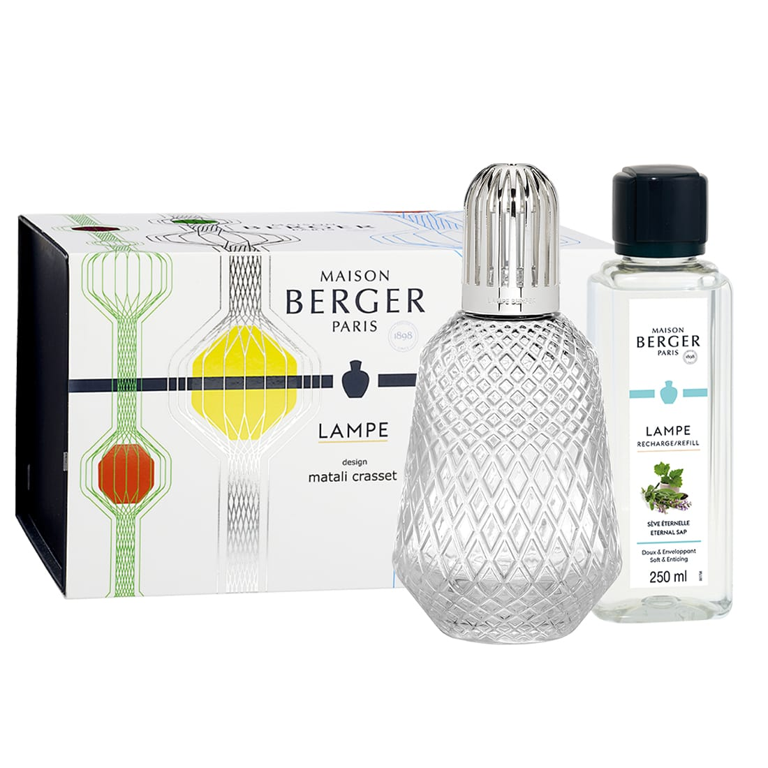 Photo de Coffret Lampe Berger Matali Crasset Tansparente