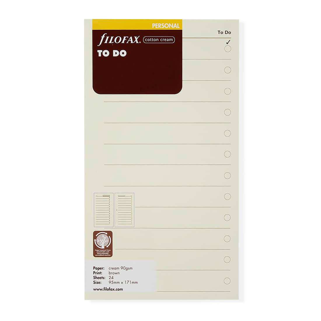 Photo de Recharge Filofax Personnal 132253