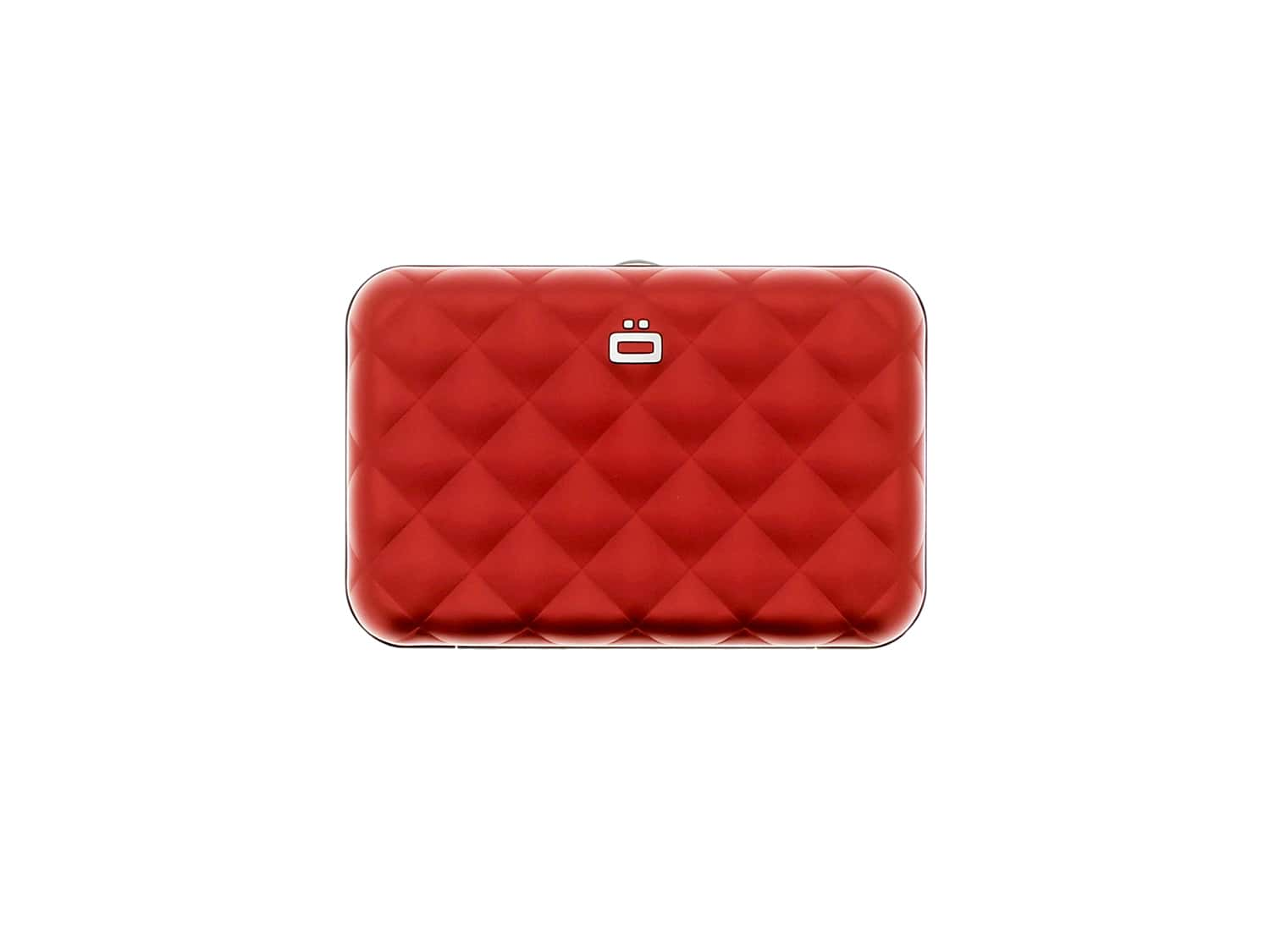 Photo de Etui Porte Cartes Ogon Quilted Button Rouge