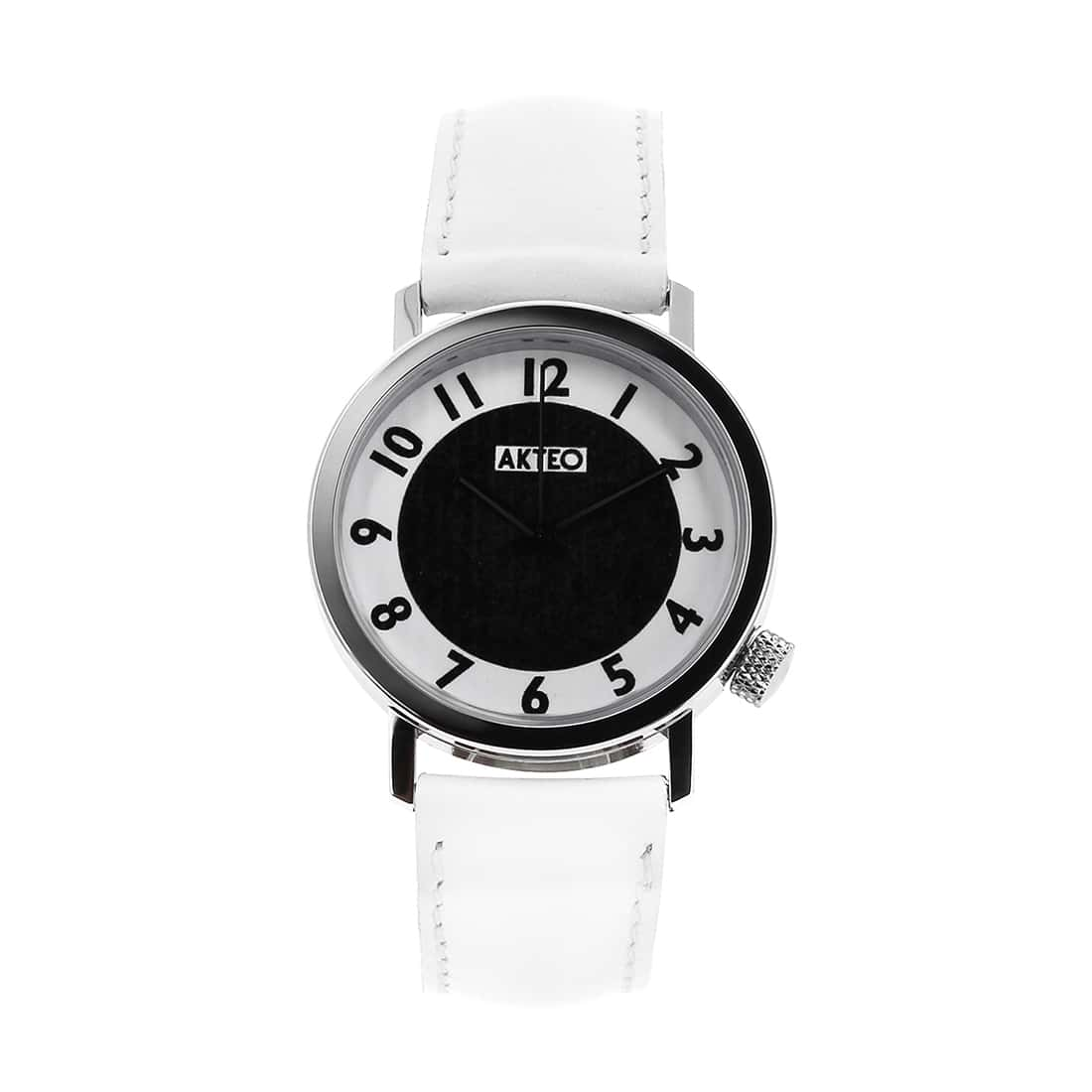 Photo de Montre Akteo Vintage Moon blanche