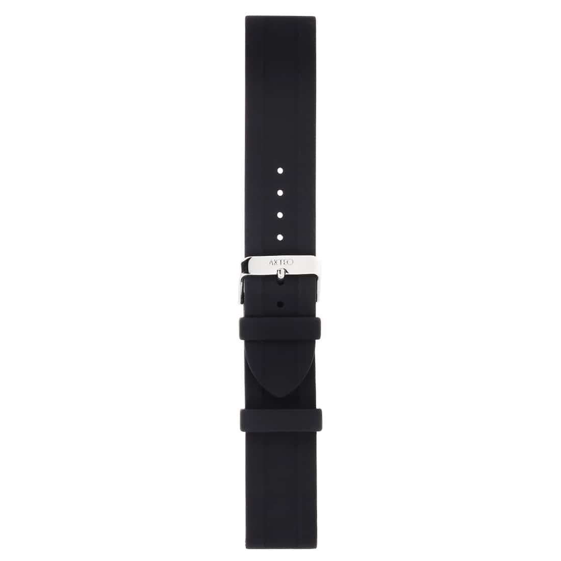 Photo de Bracelet Montre Silicone Noir lisse