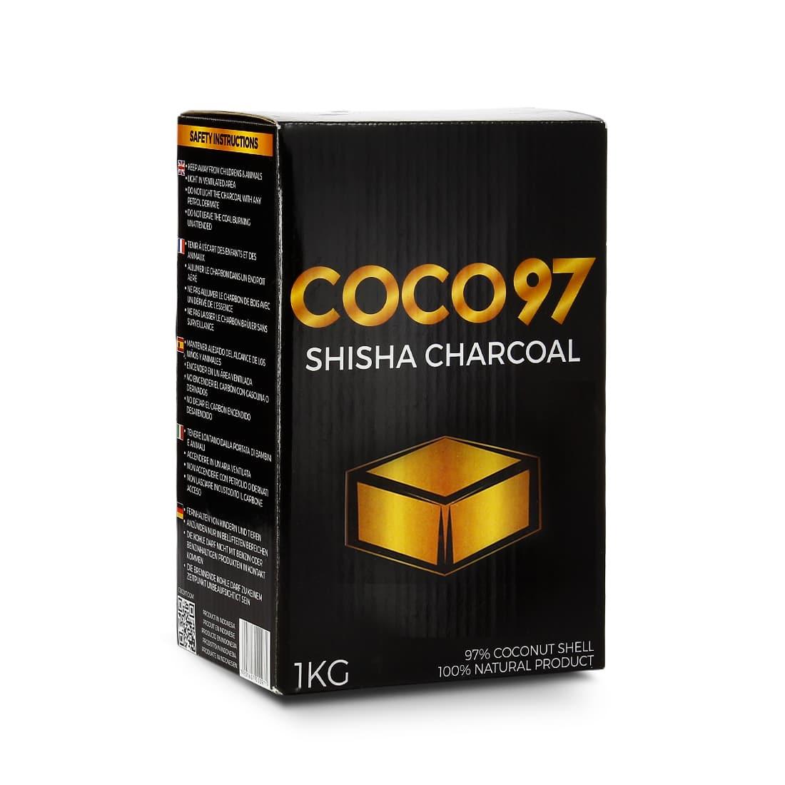 Photo de Charbon chicha Coco 97 Spécial Kaloud 1 kg