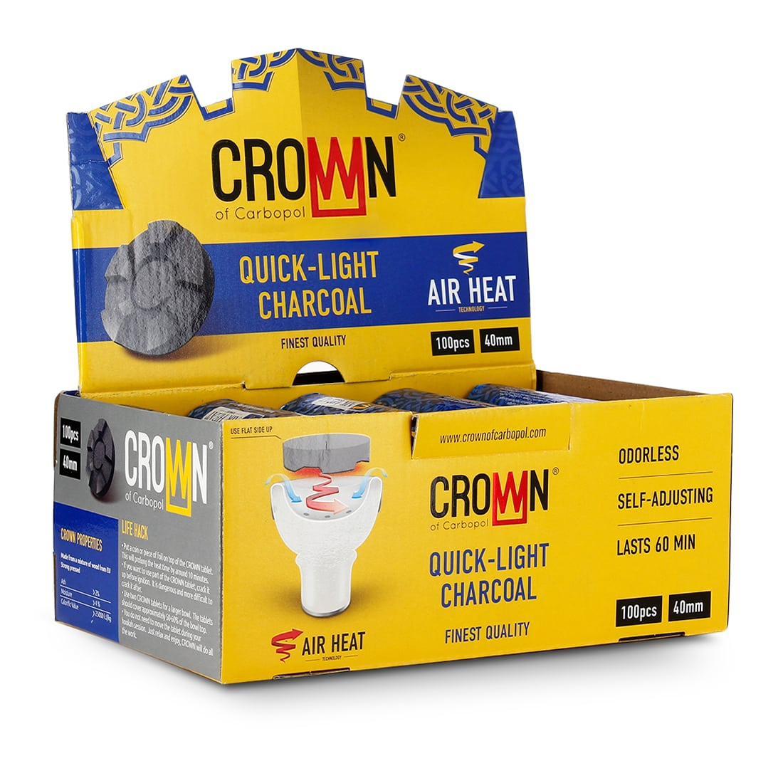 Photo de Charbon chicha Carbopol Crown x 10