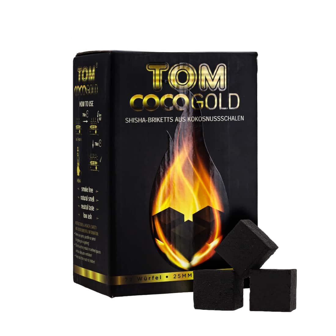 Photo de Charbon à chicha Tom Cococha Premium Gold 1 kg
