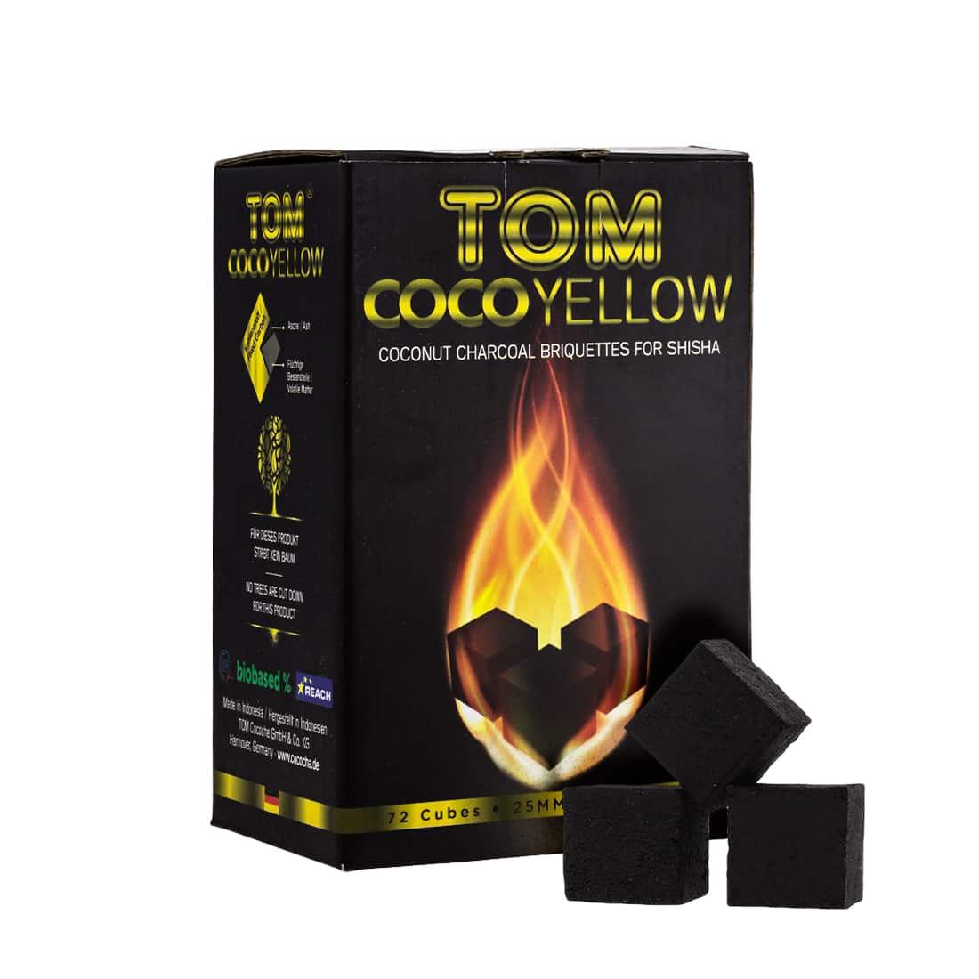 Photo de Charbon à chicha Tom Cococha jaune