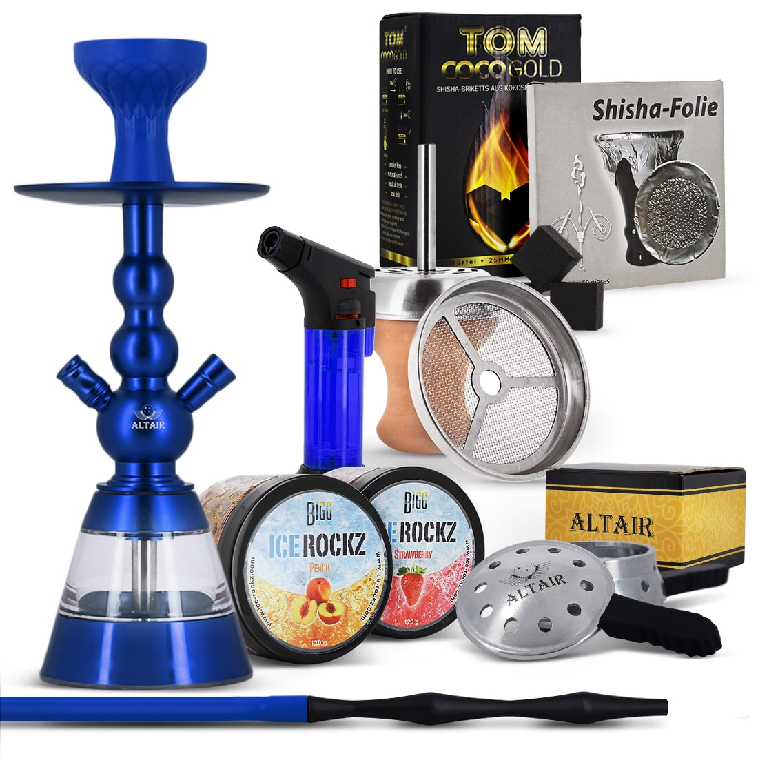 Photo de Pack Starter Chicha Altair Khephren Deluxe Bleu