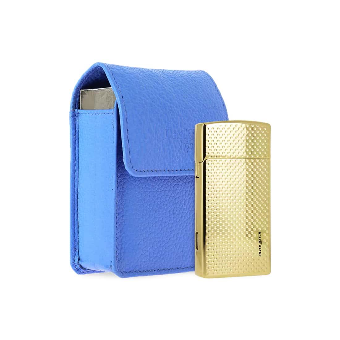 Photo de Pack Briquet USB et Etui Cigarette Bleu
