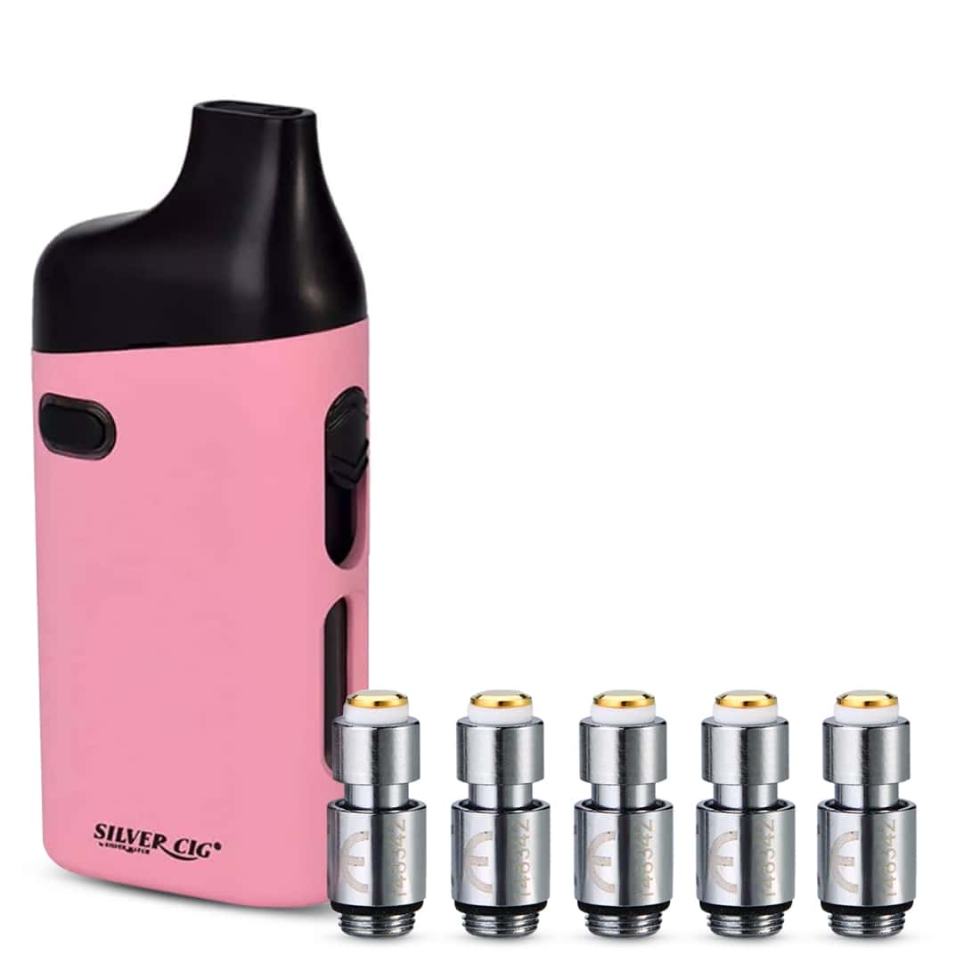 Photo de Pack cigarette-electronique SilverCig E-Palm Rose et 5 x Résistances