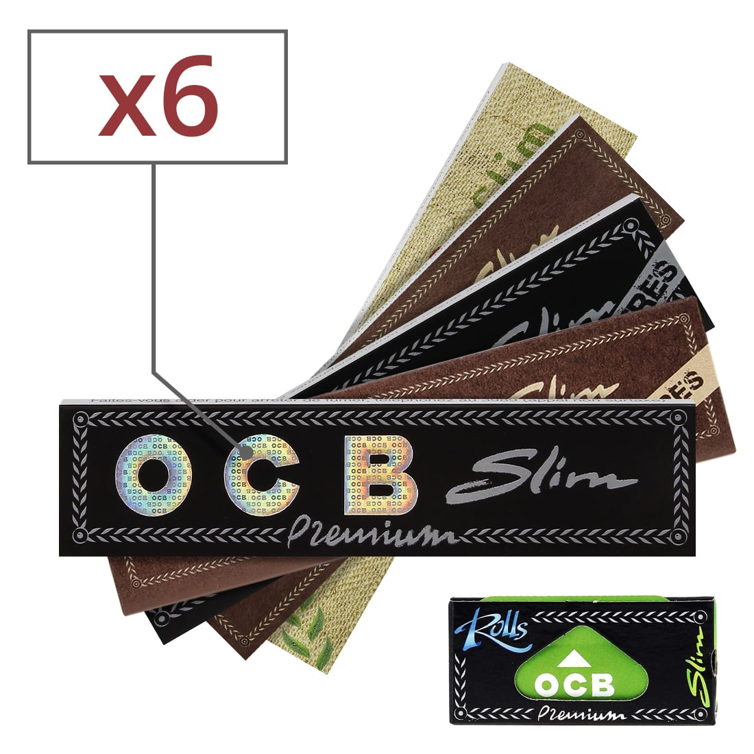 Photo de Pack Découverte Feuille a rouler OCB Slim