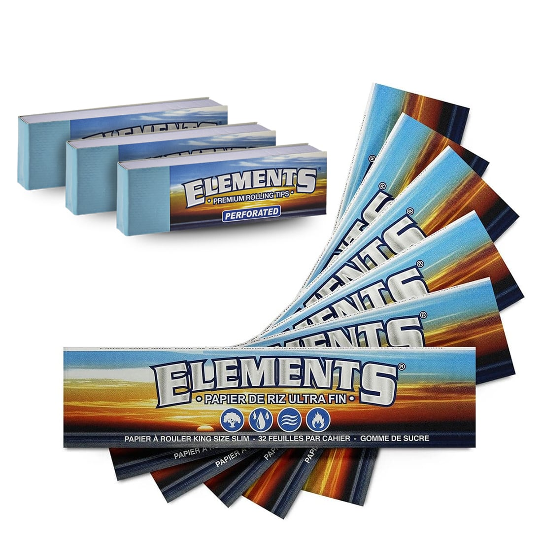Photo de Pack Elements Feuilles Slim Filtres Carton