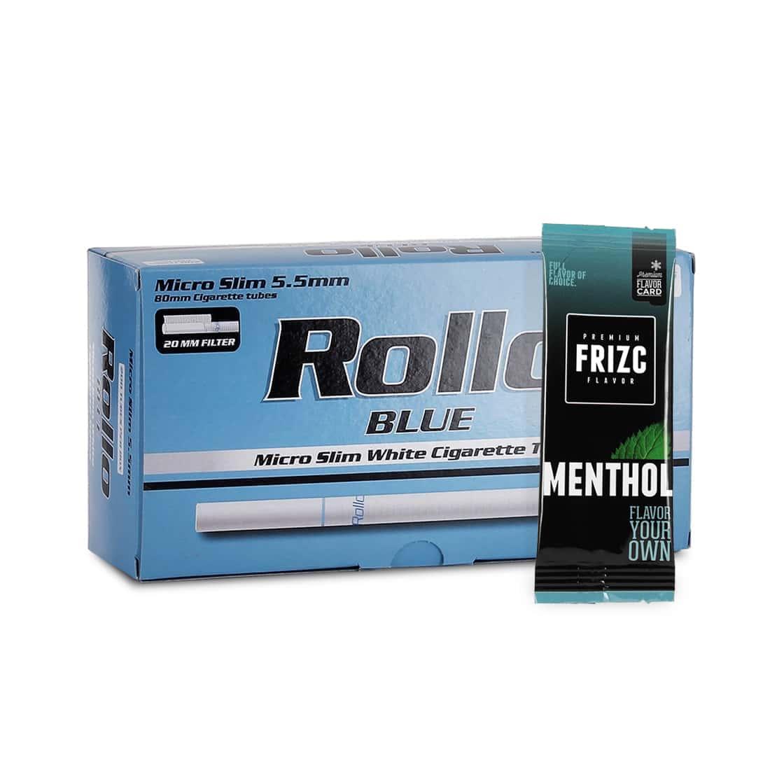 Photo de Pack Tubes Rollo Blue Micro Slim Carte Frizc Menthol