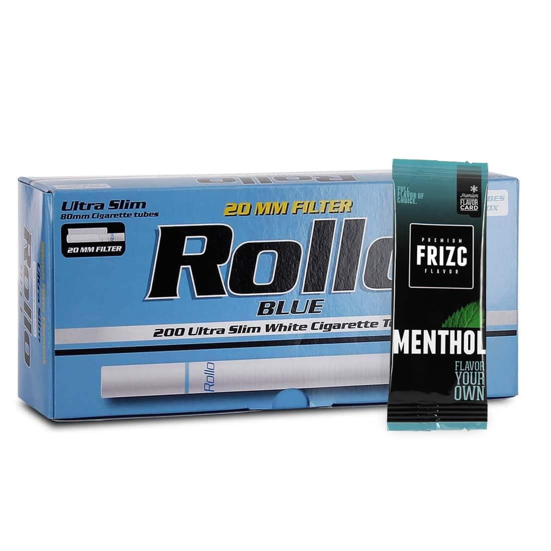 Photo de Pack Tubes Rollo Blue Ultra Slim Carte Frizc Menthol